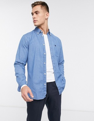Selected denim long sleeve shirt