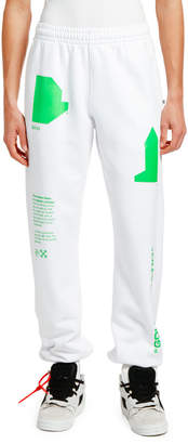 Off-White Off White Men's Arch Shapes Slim Sweatpants