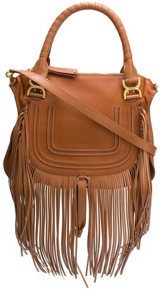 Chloé Marcie fringe-trimmed shoulder bag