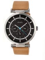 Simplify The 4800 Unisex Brown Strap Watch-Sim4806
