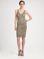 Theia Marina Beaded Dress