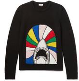 Saint Laurent Jacquard Wool Sweater