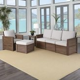 Home Styles Barnside Three Seat Sofa, Chair, Ottoman, and End Table
