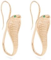 Jade Jagger Emerald & yellow-gold earrings