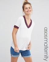 Asos Lurex Tipped Oversized T- Shirt