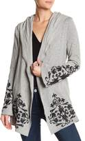 Democracy Embroidered Bell Sleeve Cardigan