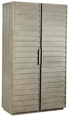 One Kings Lane Zephyr Armoire - Graywash - frame, graywash; hardware, silver