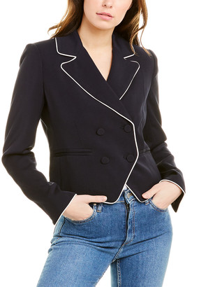 Frame Piped Cropped Blazer