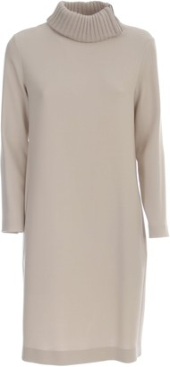 Antonelli Tunic Dress L/s W/zip On Neck