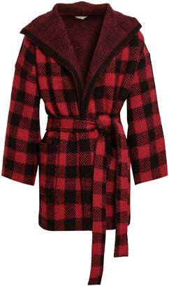 Joie Checked Wool-blend Cardigan