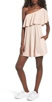 BP Women's One-Shoulder Ruffle Dress