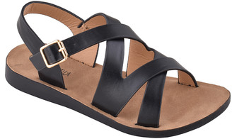 Belladia Girls' Sandals Black - Black Crisscross Chico Slingback Sandal - Girls