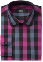 Alfani Men's Classic/Regular Fit Boldberry Mega Gingham Dress Shirt, Only at Macy's