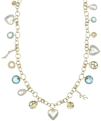 Ippolita Rock Candy 18K Yellow Gold, 14-20MM Pearl & Multi-Stone Charm Necklace
