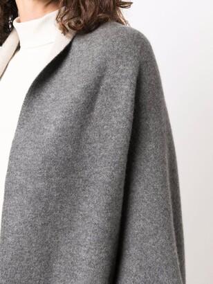 Philo-Sofie Asymmetric Knit Poncho-Coat