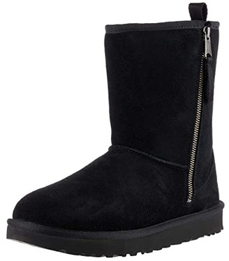Ugg Kids SINGLE SHOE - Classic Short Dual Zip Boot (Black) Girls Shoes