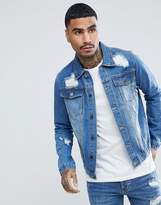 Criminal Damage Distressed Denim Jacket