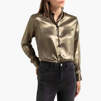 La Redoute Collections Metallic Blouse with Long Sleeves