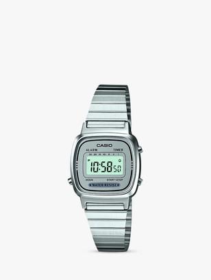 Casio LA670WEA-7EF-SS Unisex Core Bracelet Strap Watch, Silver/Grey