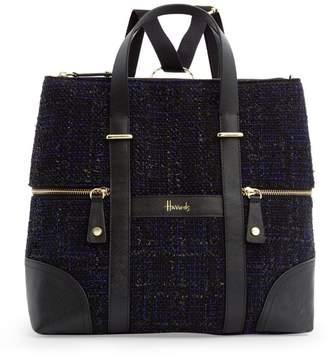 Harrods Tweed Wandsworth Convertible Backpack