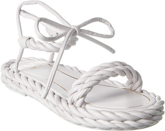 Valentino The Rope Leather Sandal