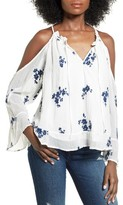 Women's Devlin Erica Embroidered Cold Shoulder Blouse