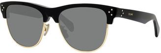 Celine Men's Round Studded Two-Tone Sunglasses