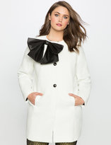 ELOQUII Plus Size Studio Bow Coat