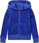 Juicy Couture Royal Blue Glitter Laurel Logo Hoodie