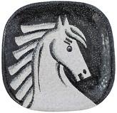 One Kings Lane Vintage Mid-Century Modern Italian Horse Tray - G3Q Designs - black/white