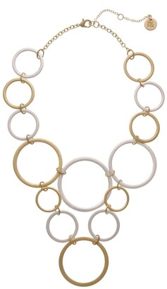 The Sak Two-Tone Open Circle Necklace