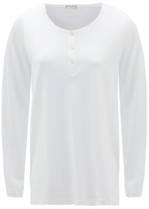 Hanro Buttoned Cotton And Modal-blend Jersey Pyjama Top - White