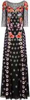 Temperley London Black Floral Embroidered Sylvie Gown