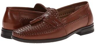 Nunn Bush Strafford Woven Moc Toe Loafer (Black) Men's Slip on Shoes