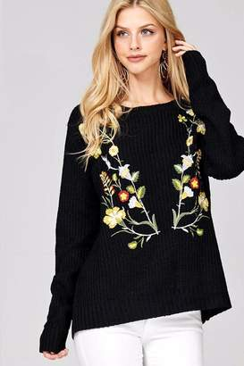 People Outfitter Catriona Embroidery Sweater