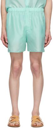 Ludovic de Saint Sernin Blue Silk Boxer Shorts