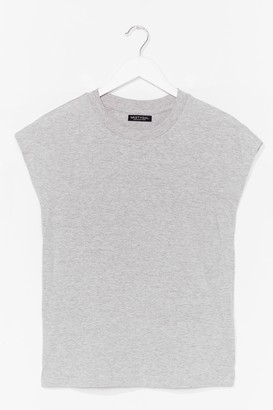 Nasty Gal Womens Stick to the Basics Relaxed Tee - Grey - XS