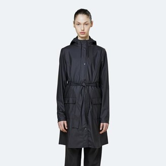 Rains Curve Black Raincoat 1206 - 25% Off - XXS/XS
