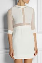 IRO Tina silk-paneled crepe mini dress