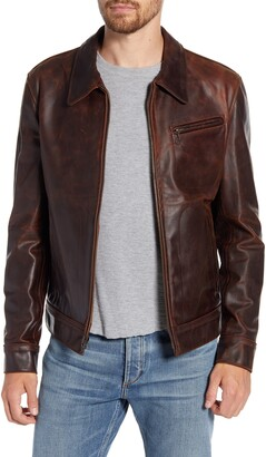 Schott NYC Water Resistant Oil Tanned Cowhide Leather Jacket
