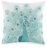 Jessica Simpson Aquarius Peacock-Embroidered Pillow