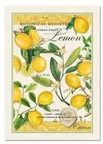Michel Design Works Lemon Kitchen Towel, Natural Woven Cotton