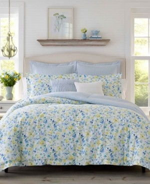 Laura Ashley Nora Sun Blue Comforter Set, King Bedding