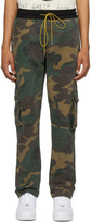 Rhude Brown and Green Rifle 2 Cargo Pants