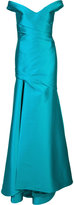 Monique Lhuillier off shoulder gown - women - Silk/Polyester/Spandex/Elastane/Polyimide - 10