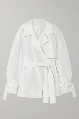 The Row Keera Belted Silk-taffeta Jacket - White