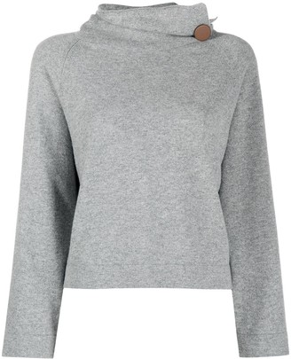Fabiana Filippi Oversize Roll Neck Jumper With Side Button Detail