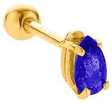 FreshTrends 5mm Sapphire (September) Prong Set Teardrop 14K Yellow Gold Cartilage Stud Earring
