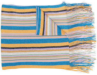 M Missoni Wool-blend Glitter Striped Scarf