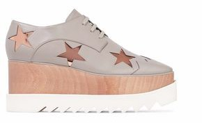 Stella McCartney Metallic Appliqued Faux Leather Platform Sneakers